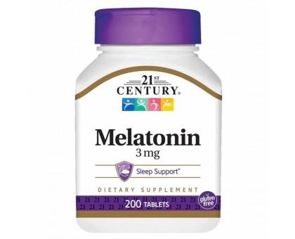 21st Century Melatonin 3 мг 200капс