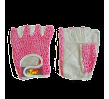 Перчатки для фитнеса женские (розовые)