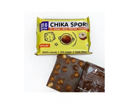 CHIKALAB Шоколад протеиновый молочный с фундуком 100 гр