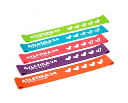 Atletika24 Фитнес-резинки Mini Bands (5 штук) 25*5 см