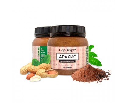 DopDrops Арахисовая Паста Шоколадная 250г (шоколад, стевия)