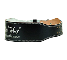 MadMax Пояс Leather belt черный