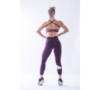 NEBBIA Asymetrical 7/8  leggings бургундия
