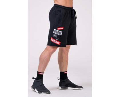 NEBBIA Шорты NEBBIA Labels Shorts черные