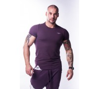 NEBBIA Футболка Muscle Back T-shirt бургундия