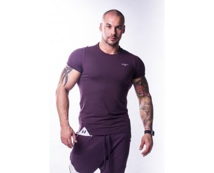 NEBBIA Футболка Muscle Back T-shirt бургундия