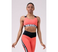 Nebbia Топ Power Your Hero iconic sports bra персиковый