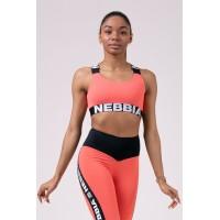 Nebbia Топ Power Your Hero iconic sports bra персиковый