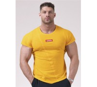 NEBBIA Футболка Red Label Muscle Back T-shirt желтая