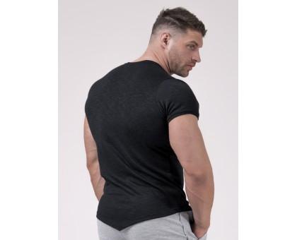 NEBBIA Футболка Red Label Muscle Back T-shirt черная