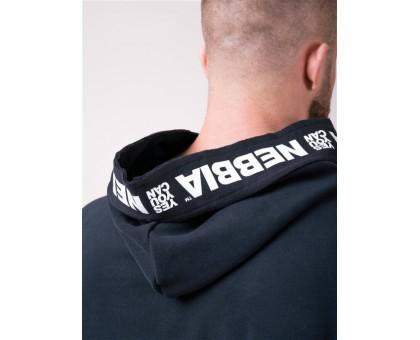 NEBBIA Футболка Reg top with hoodie чёрная