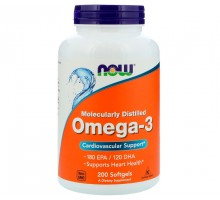 NOW Omega-3 1000мг 200 капс