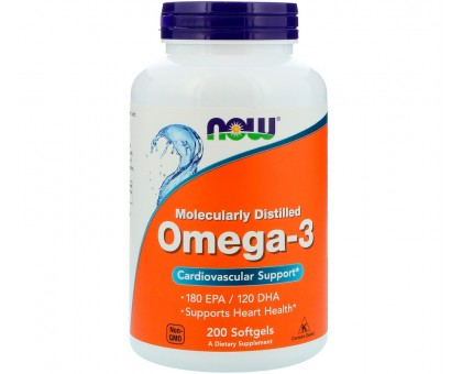 NOW Omega-3 1000 мг 200 капс