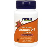 NOW Vitamin D-3 120 caps