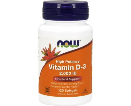 NOW Vitamin D-3 2 000 IU 120 капс