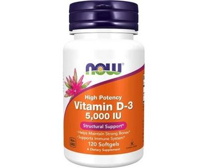 NOW Vitamin D-3 5 000 IU 120 капс
