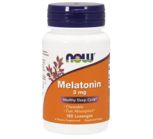 NOW Melatonin 3 мг 180 пастилок
