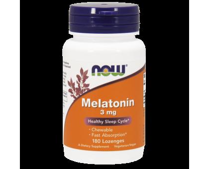 NOW Melatonin 3 мг 180 пастилок