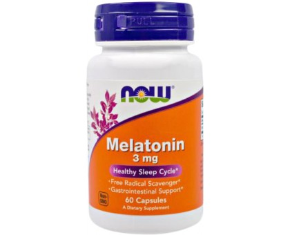 NOW Melatonin 3 мг 60капс