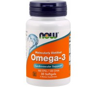 NOW Omega-3 1000мг 30 капс