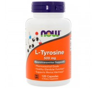 NOW L-tyrosine 500 mg 120 caps