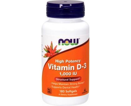 NOW Vitamin D-3 1 000 IU 180 капс