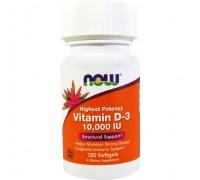 NOW Vitamin D-3 10 000 IU 120 капс