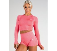 Ryderwear бесшовный лонгслив Seamless Long Sleeve Crop корал