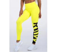 Ryderwear леггинсы Neonude Scrunch Bum Leggings желтые