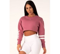 Ryderwear утепленный лонгслив Resort Cropped Sweater розовый