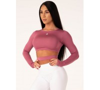 Ryderwear лонгслив California Long Sleeve Crop розовый