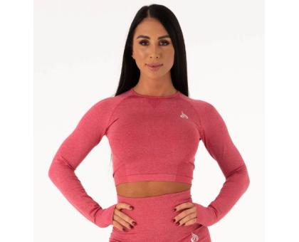 Ryderwear бесшовный лонгслив Seamless Long Sleeve Crop розовый