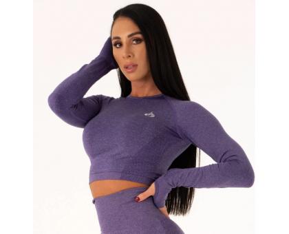 Ryderwear бесшовный лонгслив Seamless Long Sleeve Crop фиолетовый