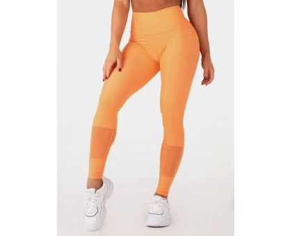 Ryderwear леггинсы Mesh High Waisted Leggings оранжевые