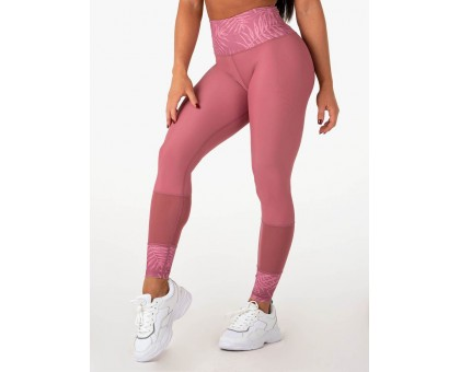 Ryderwear леггинсы Mesh High Waisted Leggings розовые