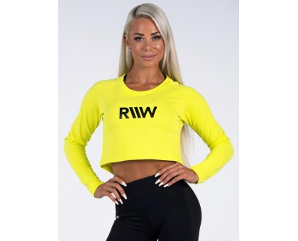 Ryderwear лонгслив Neonude Cropped Sweater желтый
