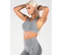 Ryderwear бесшовный топ с чашками Seamless Sports Bra серый