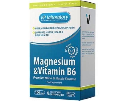 VPLab Magnesium & Vitamin B6 60 таб